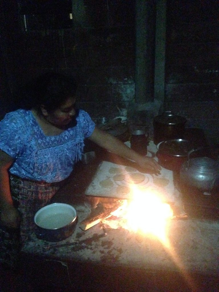 Making bread with my home stay mom in Guatemala