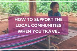 How to support the local communities when you travel