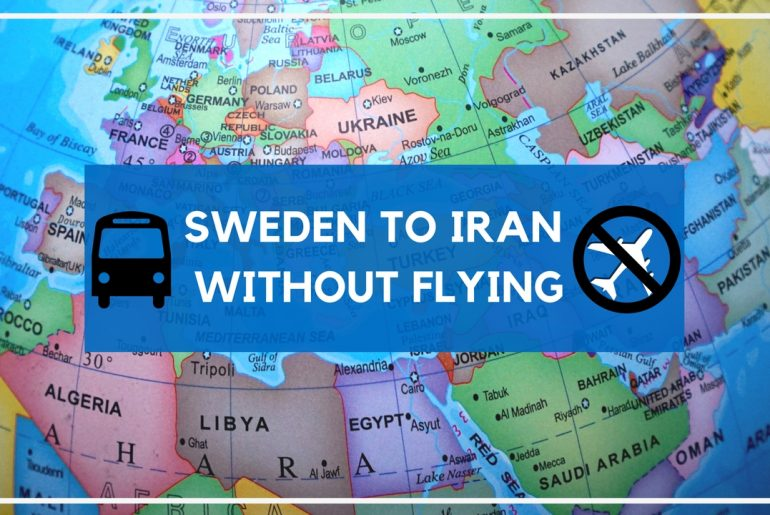 travel from sweden through europe to iran without flying