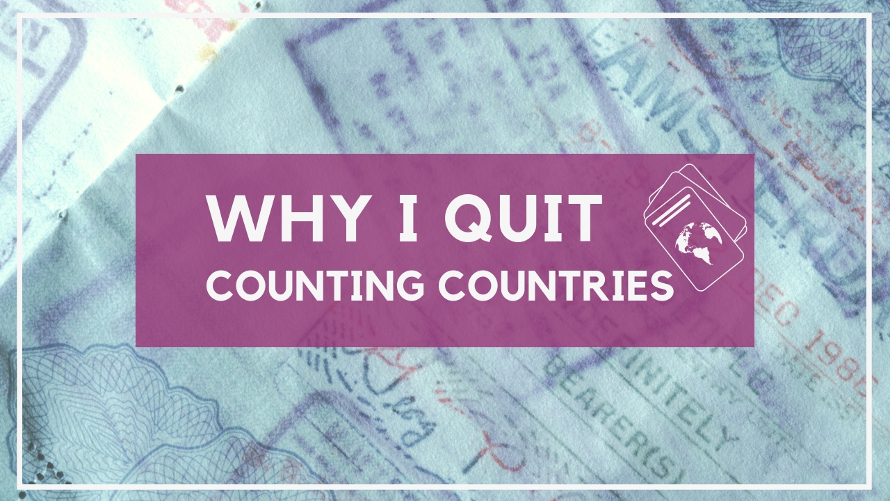 why i quit countring countries