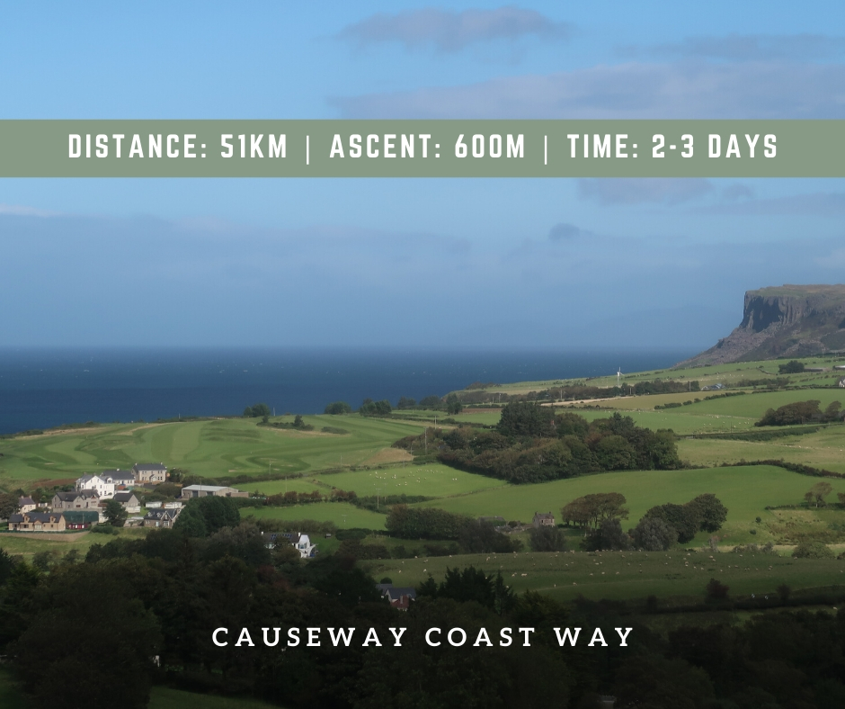 hiking northern ireland causeway coast way hiking trailDistance_ 51km _ Ascent_ 600m _ Time_ 2-3 Days