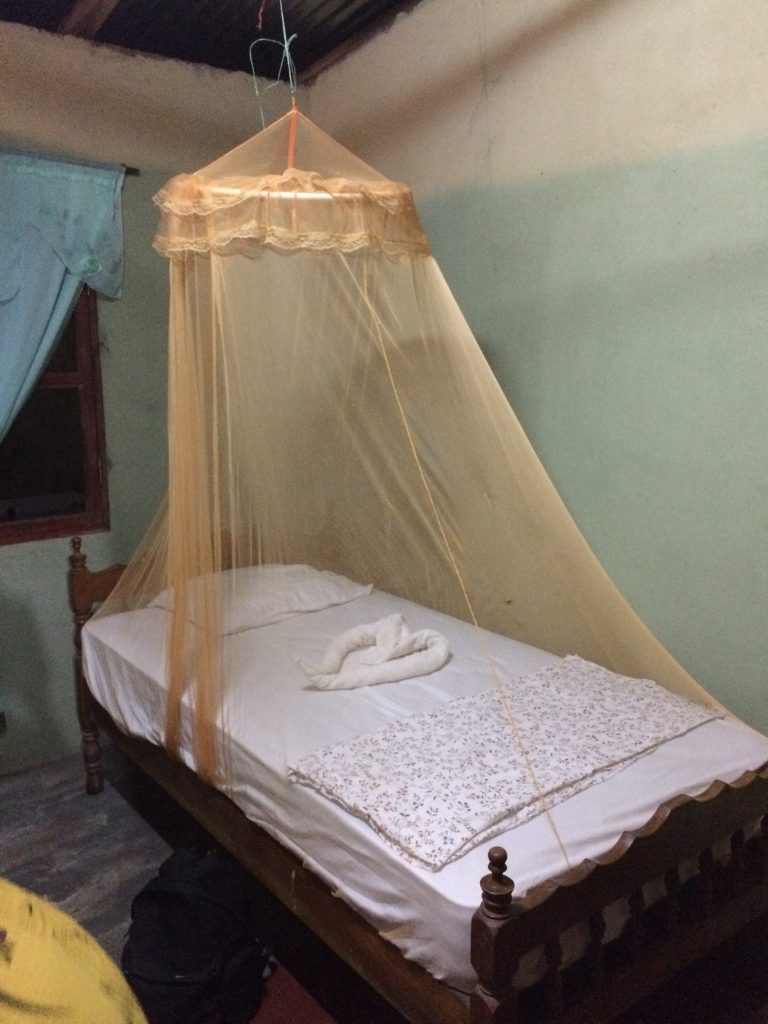 My bed in Maria's house during my home stay in Nicaragua