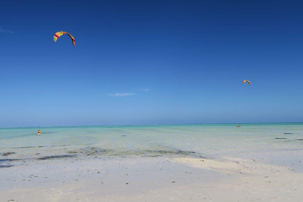 kite surfing paje beach