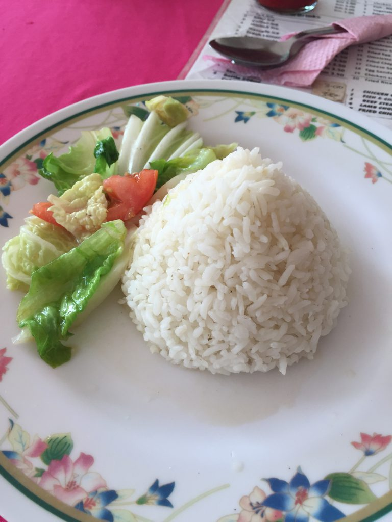 Some veggies with the rice - how luxurious!