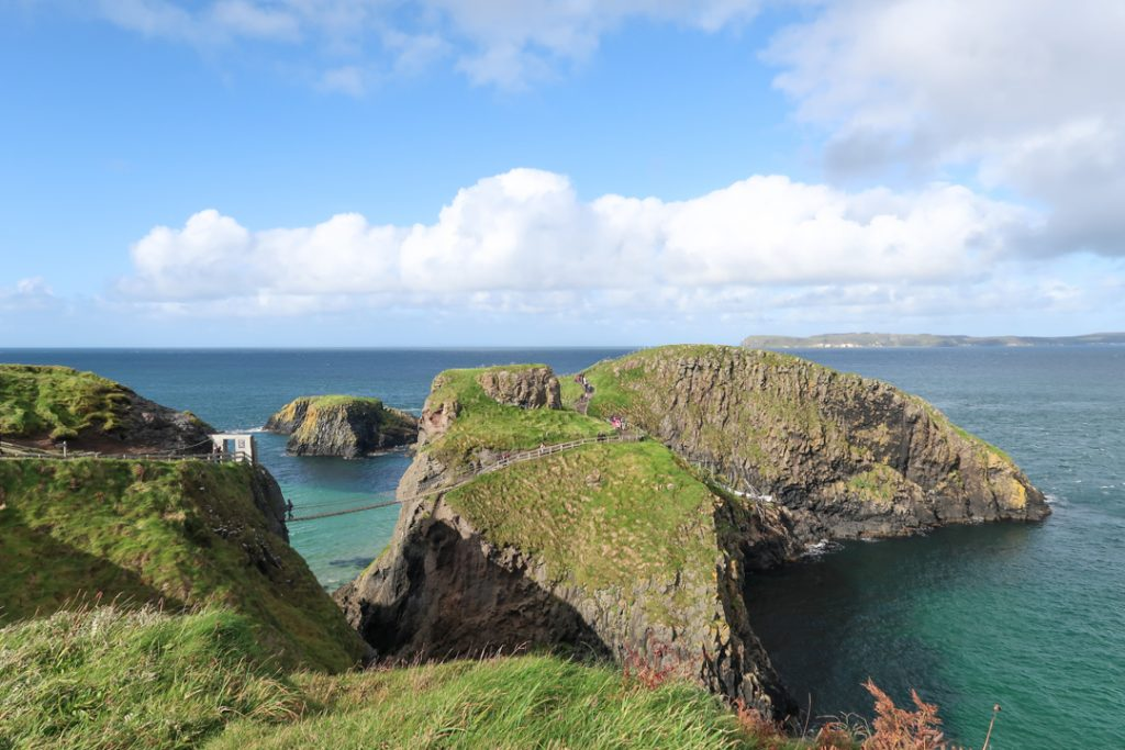 The famous rope bridge at Carrick-a-rede