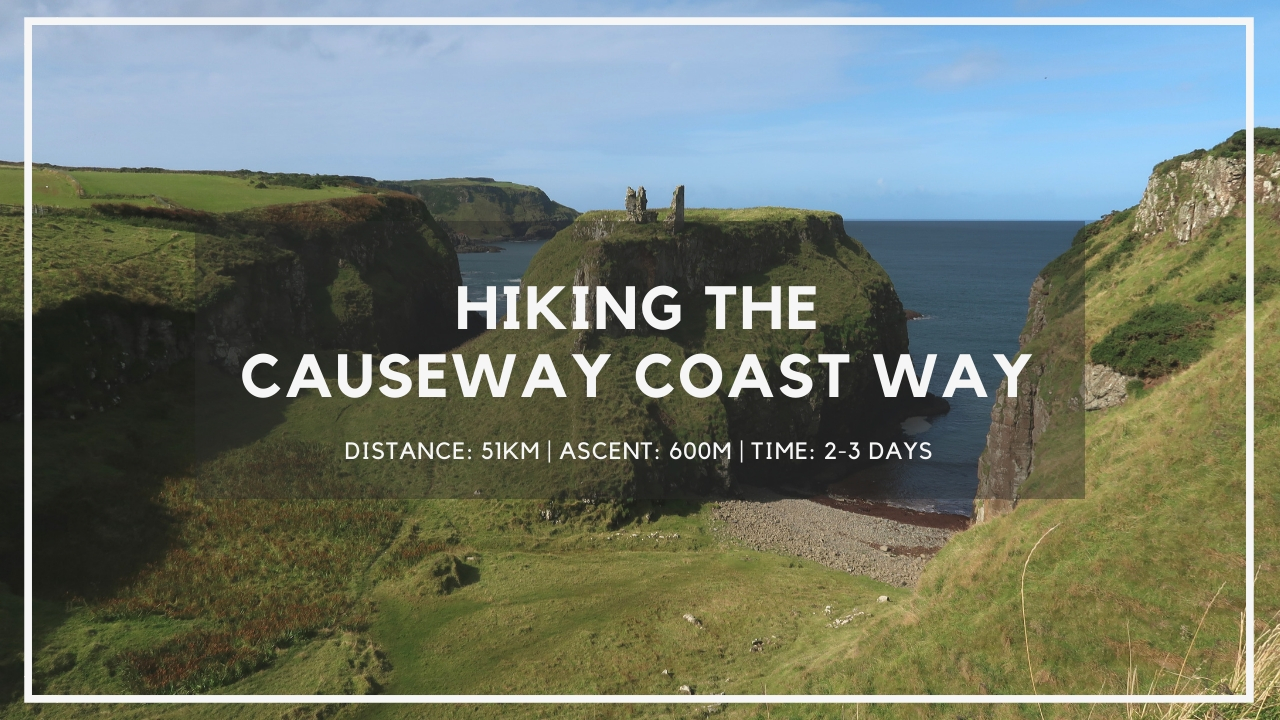 hiking the causeway coast way hiking trail northern ireland